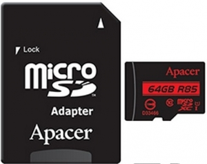 Apacer 64GB MicroSD Card + SD Adapter